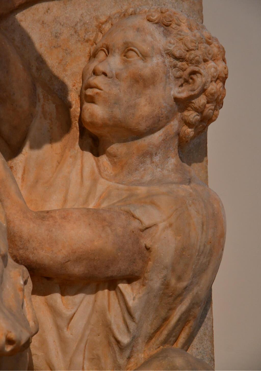 Relief sculpture of an African groom, ancient Greece
