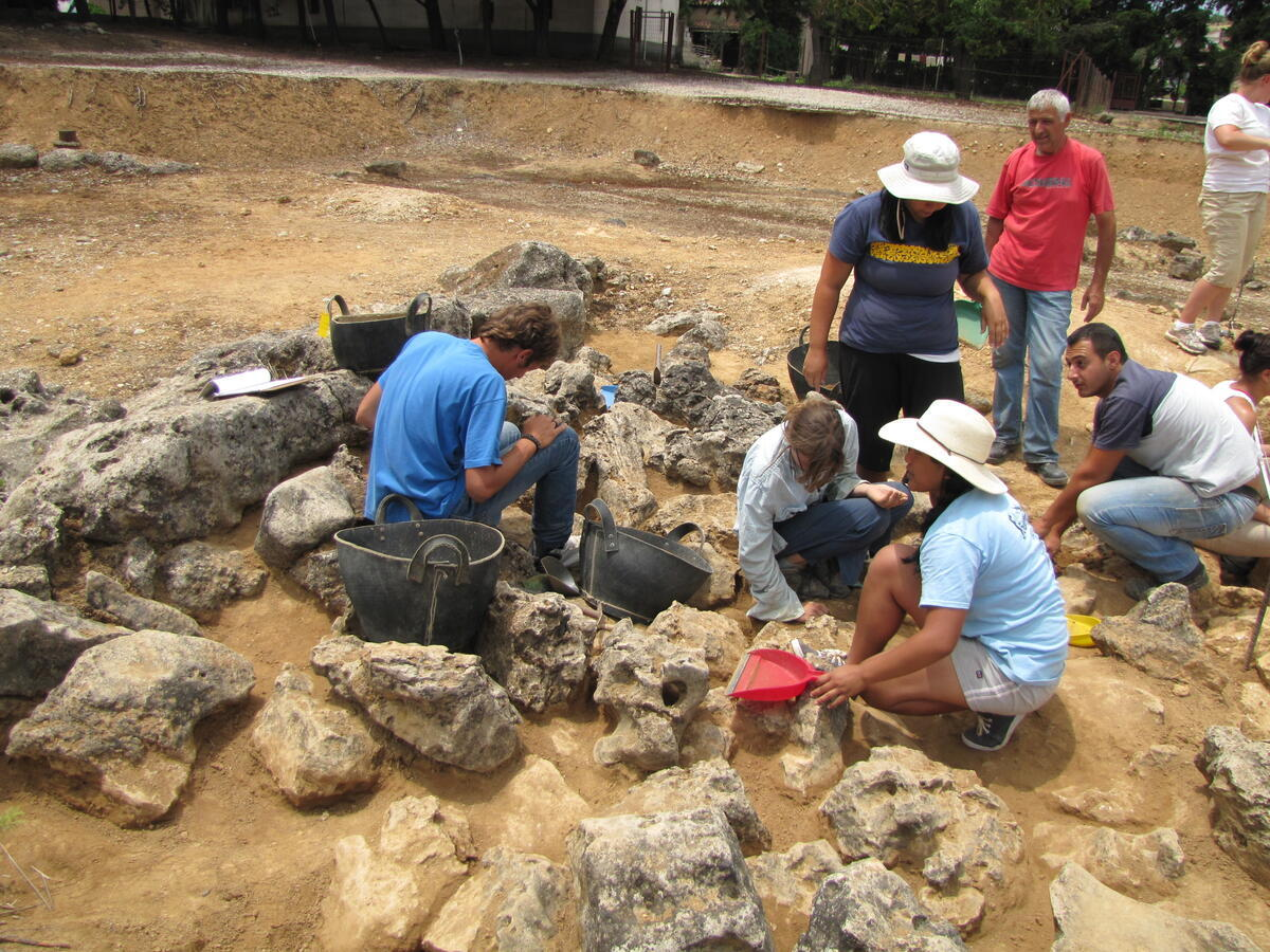 Excavation with Dr. Shelton